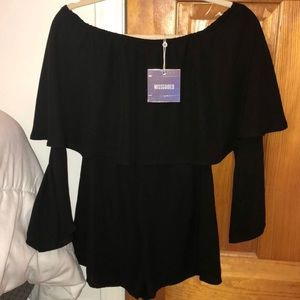 NWT missguided size 2 black romper